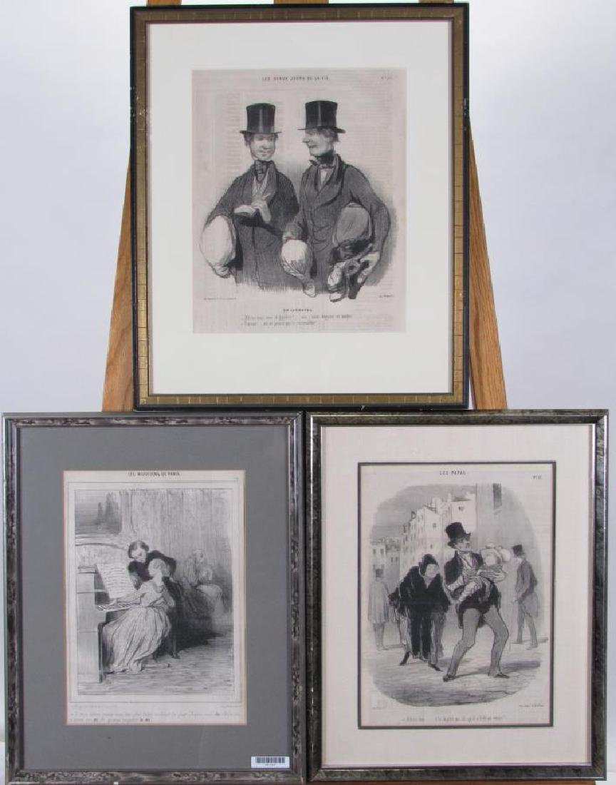 Group of Three Honore Daumier French Prints