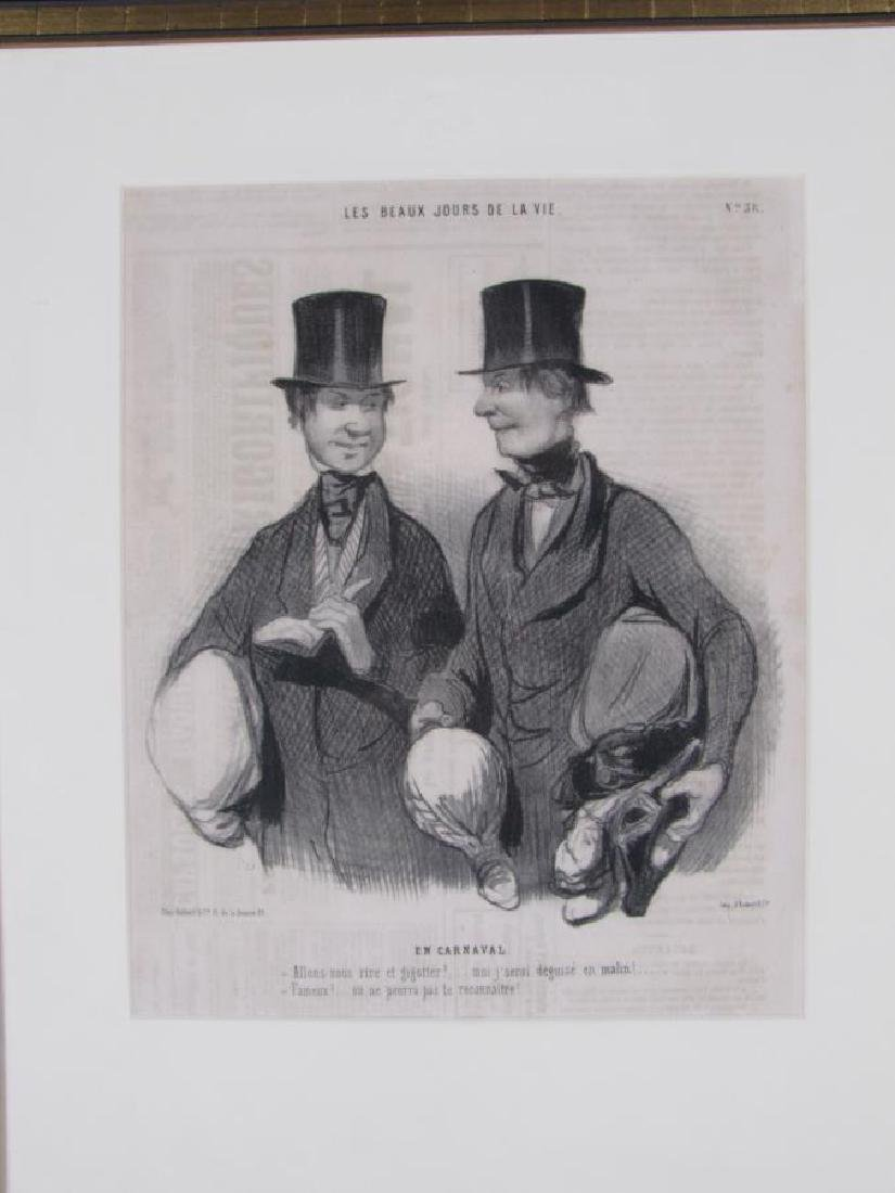 Group of Three Honore Daumier French Prints - 2