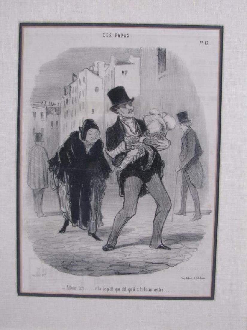 Group of Three Honore Daumier French Prints - 3