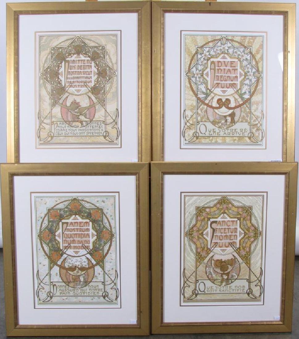 Set of Four Alphonse Mucha Prints