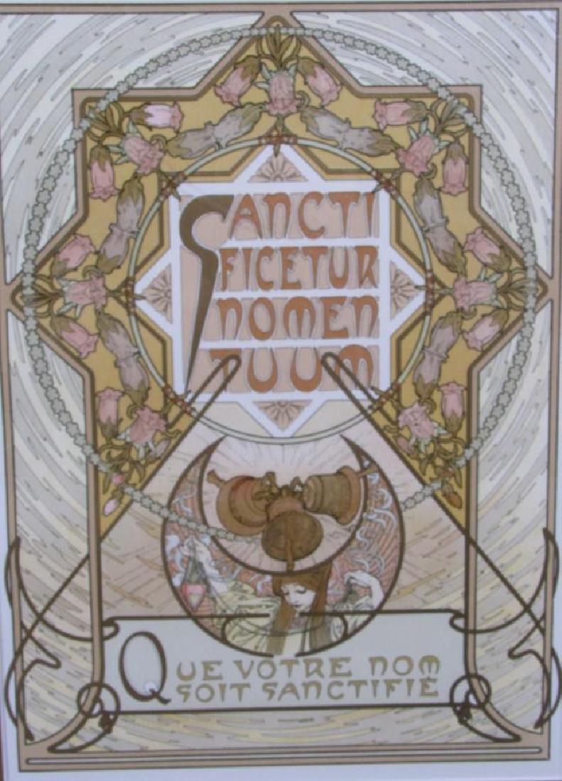 Set of Four Alphonse Mucha Prints - 4