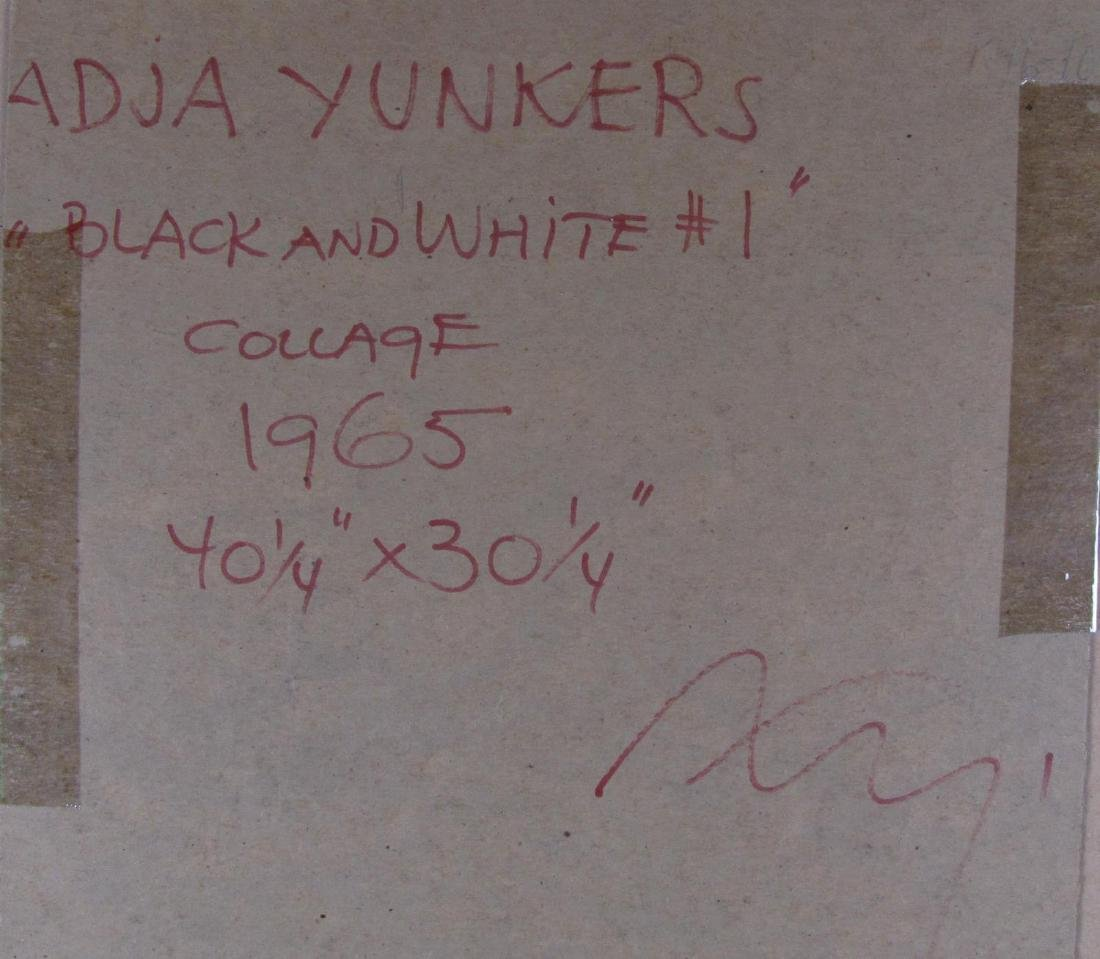 """Adja Yunkers 40x30 Collage """"Black and White #1"""" - 3"""