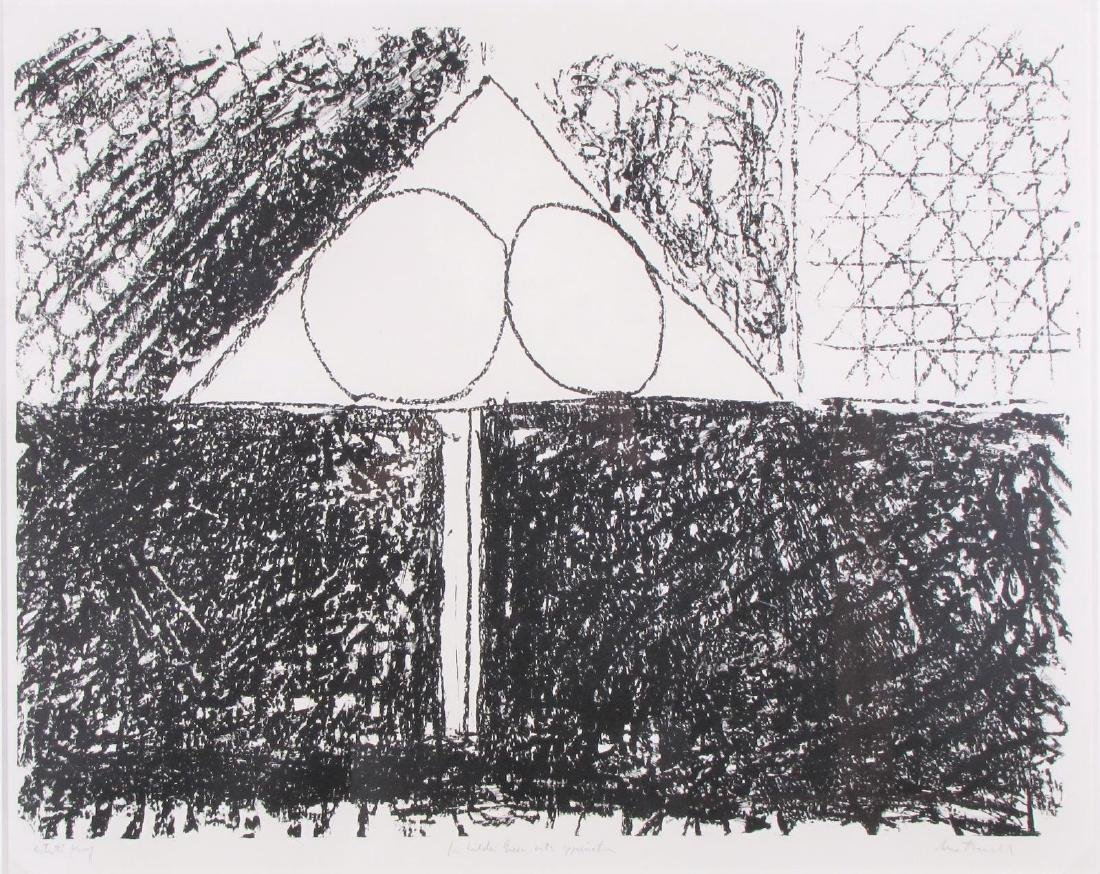 "Robert Motherwell Lithograph, ""Madrid, Suite #9"""