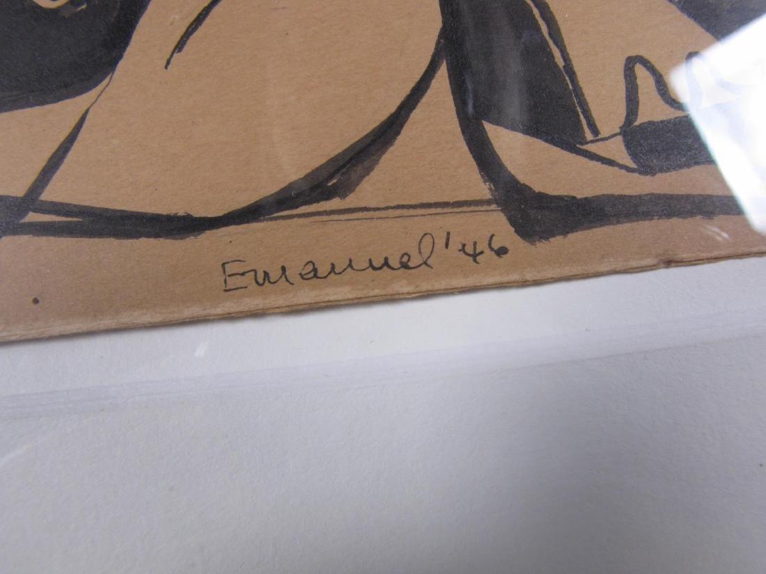 Herzl Emanuel 5.5x7 Ink/Card Cubist Couple - 3