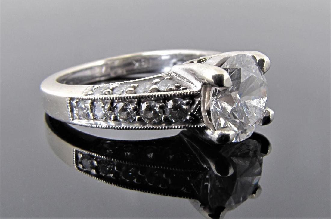 18K White Gold 2CT+ Diamond Engagement Ring