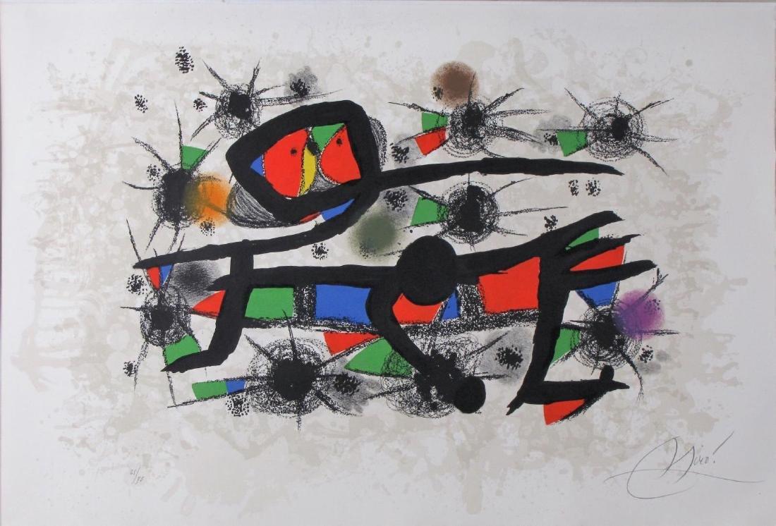 "Joan Miro Lithograph,""Peinture = Poesie"", 1976"