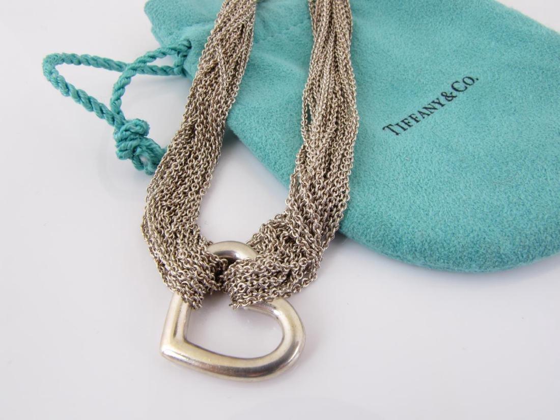 Tiffany & Co. Sterling Silver Open Heart Choker