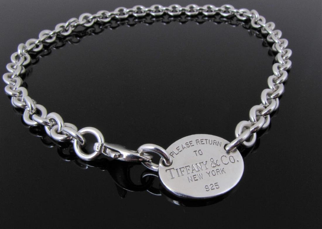 'Please Return To Tiffany' Tag Necklace, Sterling