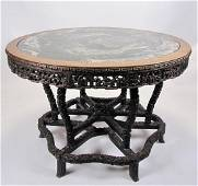 Quality, Vintage Chinese Carved Center Table