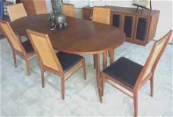 Vintage Danish Modern Dining Room Group