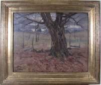 George H. Baker 16x20 O/B Tree in Landscape