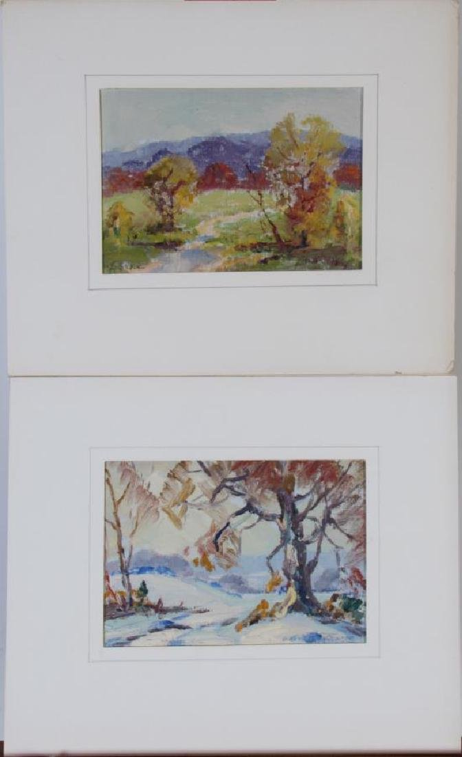 Georges LaChance (2) 5x7 O/P Holiday Gift Painting