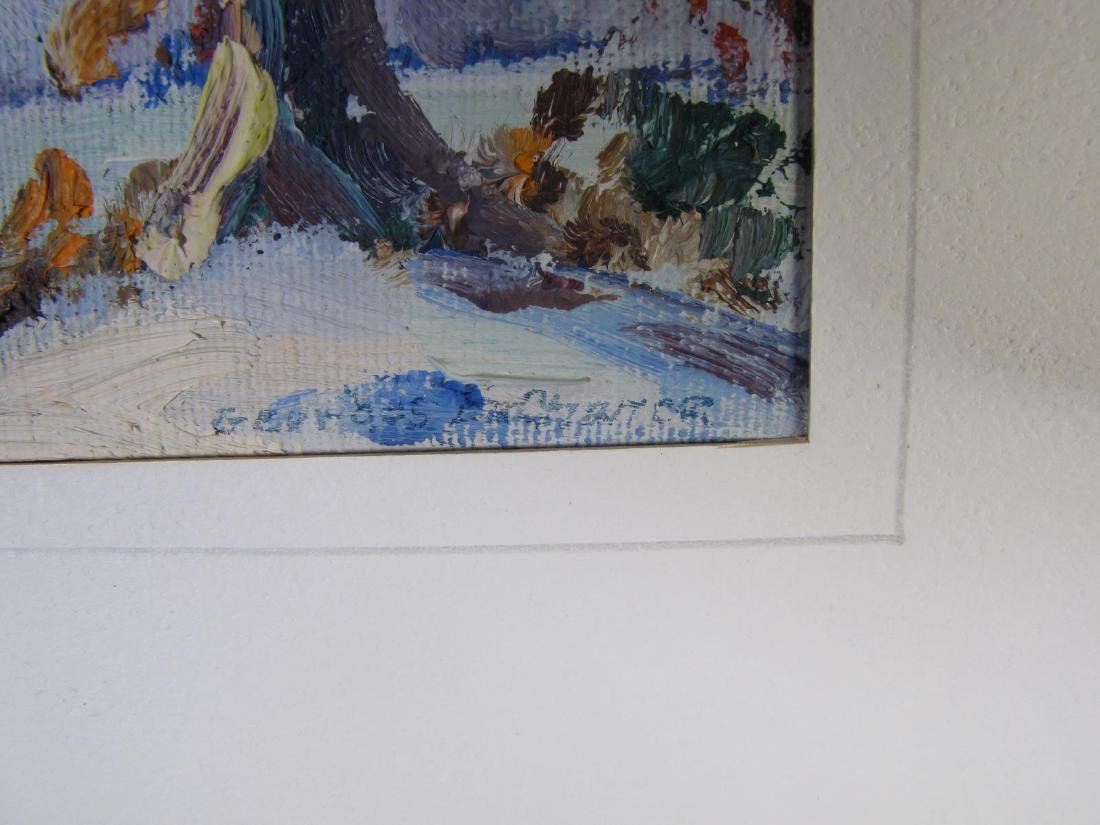 Georges LaChance (2) 5x7 O/P Holiday Gift Painting - 4