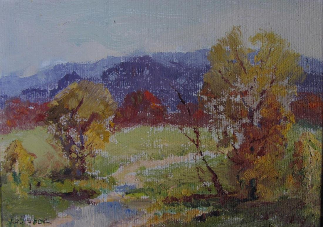 Georges LaChance (2) 5x7 O/P Holiday Gift Painting - 5