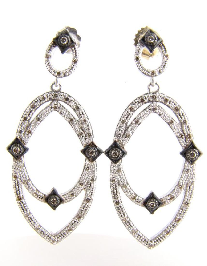 NEW Armenta Sterling Diamond Earrings