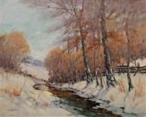 George H Baker 24x30 OC Winter Landscape
