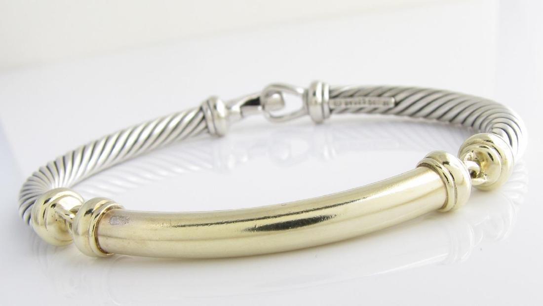 David Yurman 14K, Sterling Bar Bracelet