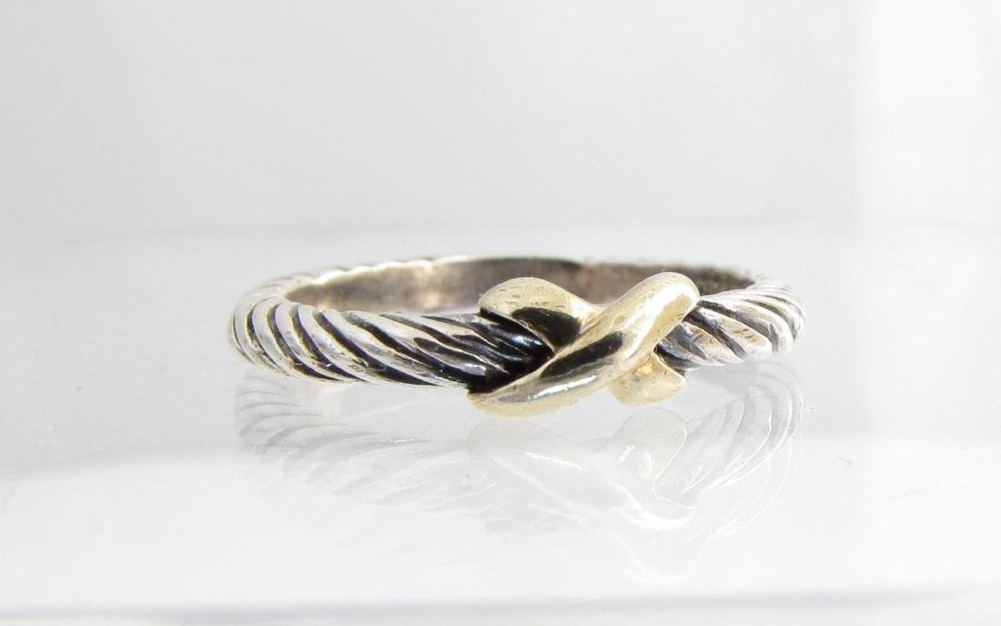 David Yurman 18K/Sterling Cable Ring