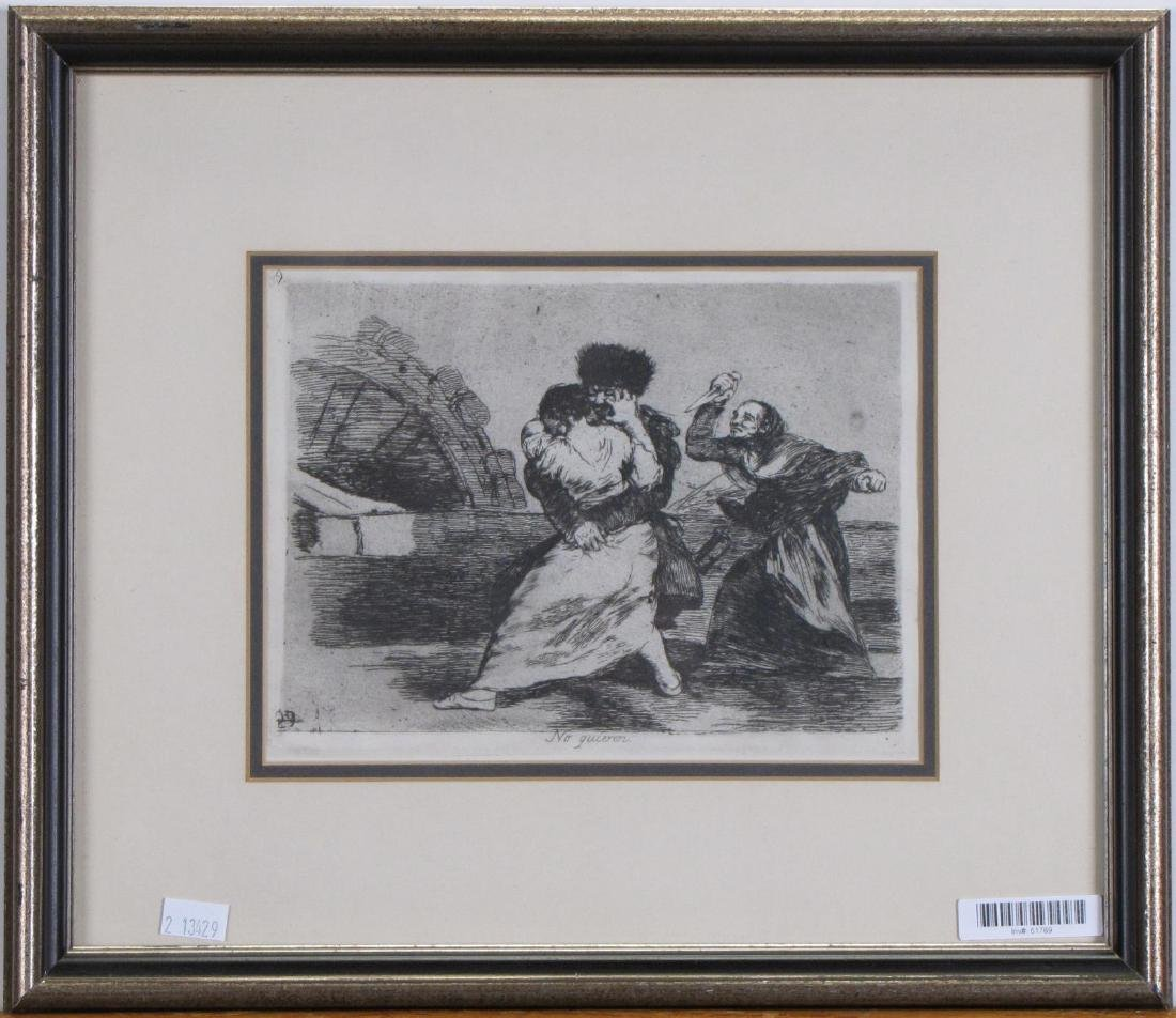 "Francisco Goya Etching, ""No Quiren"""