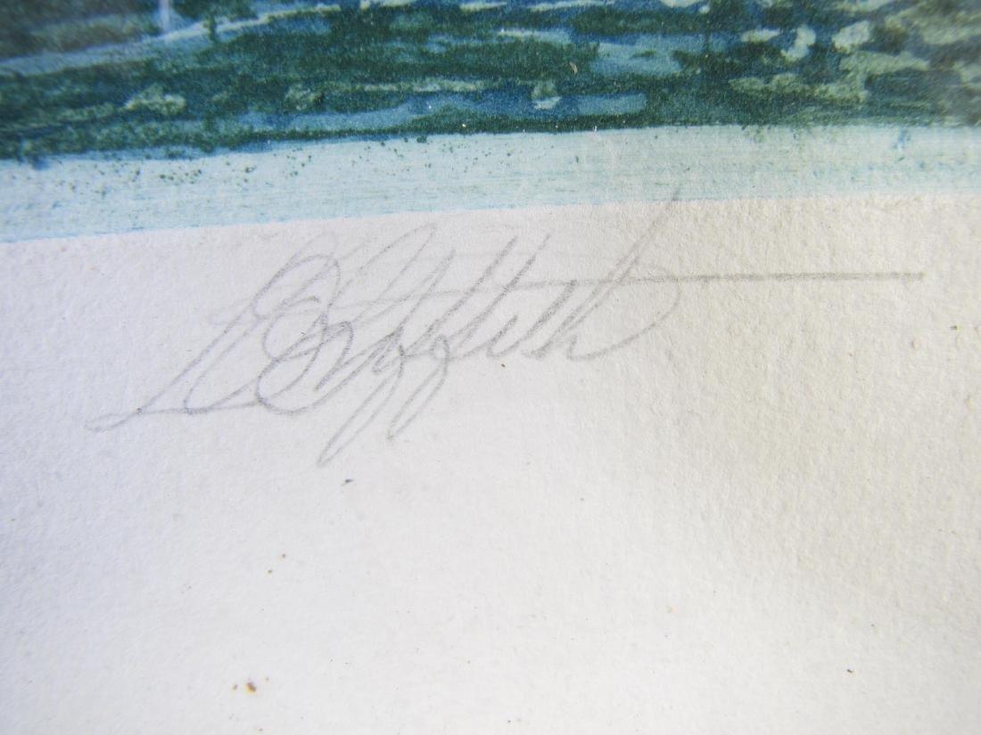 L.O. Griffith Aquatint Etching, European Bridge - 4
