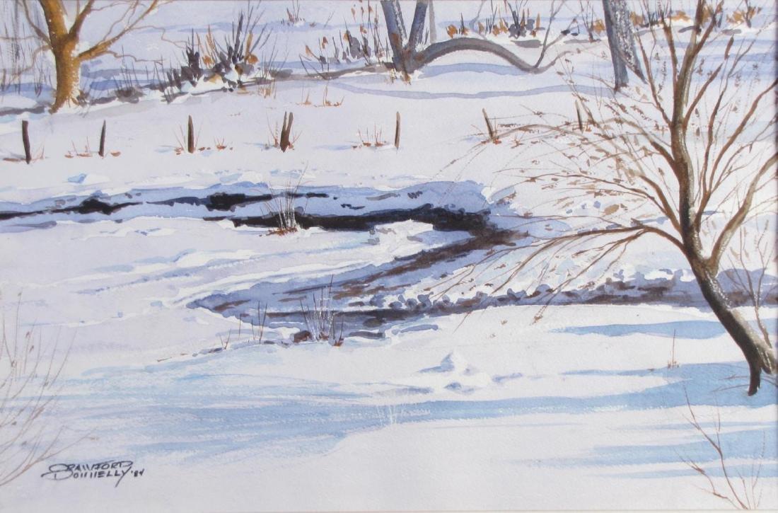 """Crawford Donnelly 14x21 WC """"Snowy Creek"""""""