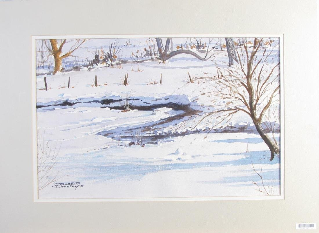 "Crawford Donnelly 14x21 WC ""Snowy Creek"" - 2"