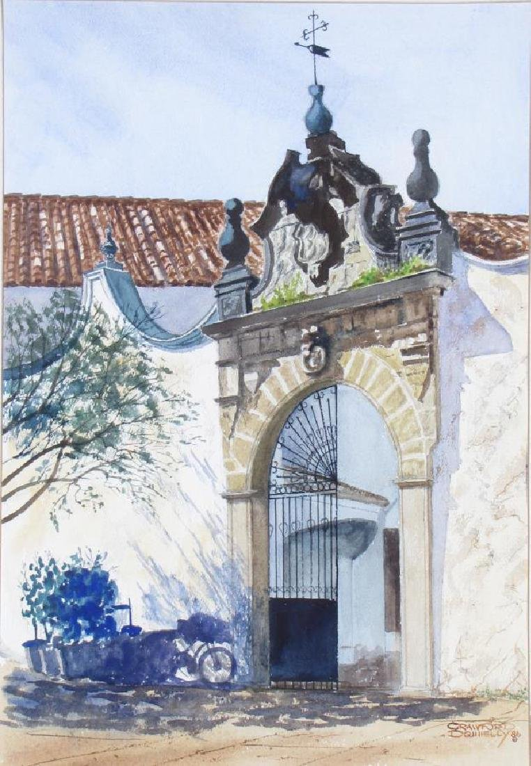 """Crawford Donnelly 20x14 WC """"Spanish Gate"""""""