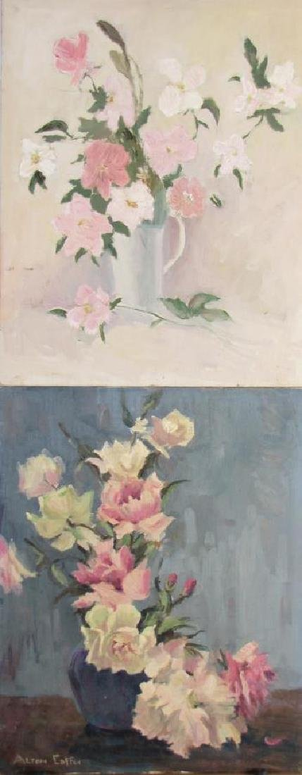 Alton P Coffey (2) 20x16 O/B Floral Still Lifes