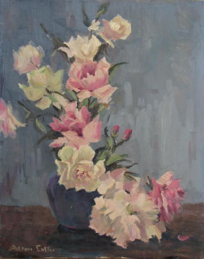 Alton P Coffey (2) 20x16 O/B Floral Still Lifes - 2