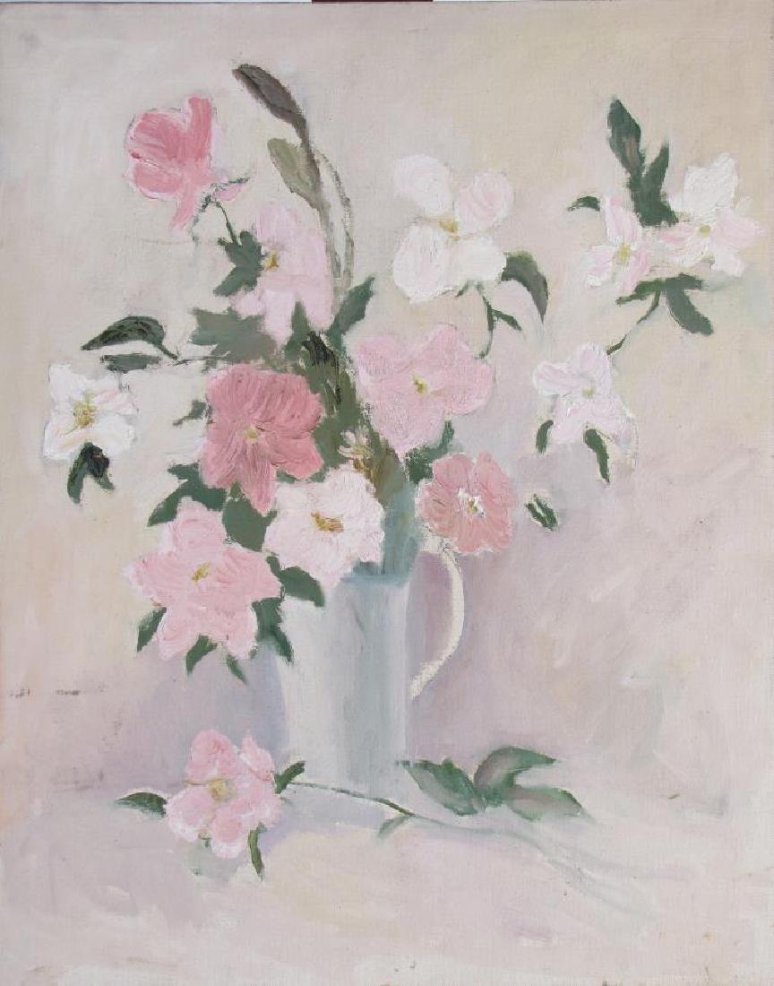 Alton P Coffey (2) 20x16 O/B Floral Still Lifes - 3