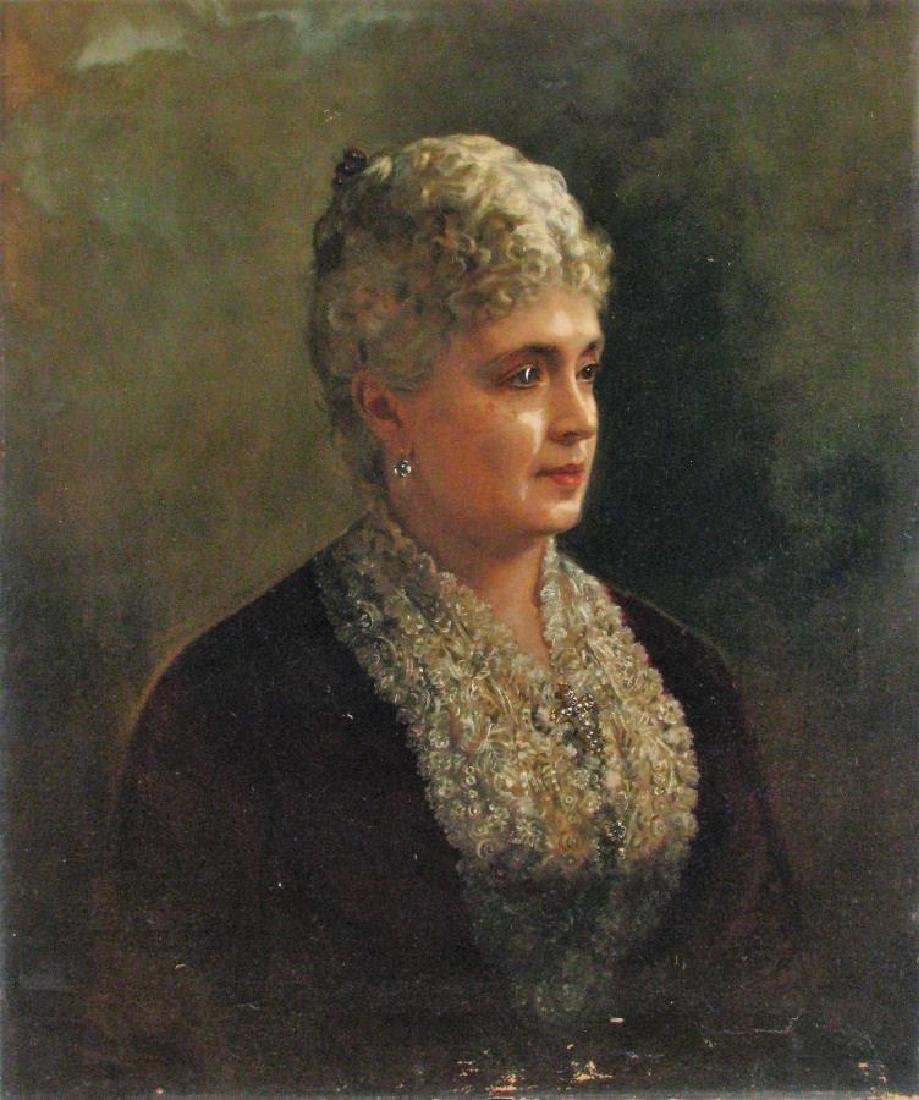 William A Greaves 30x25 O/C Portrait of Woman