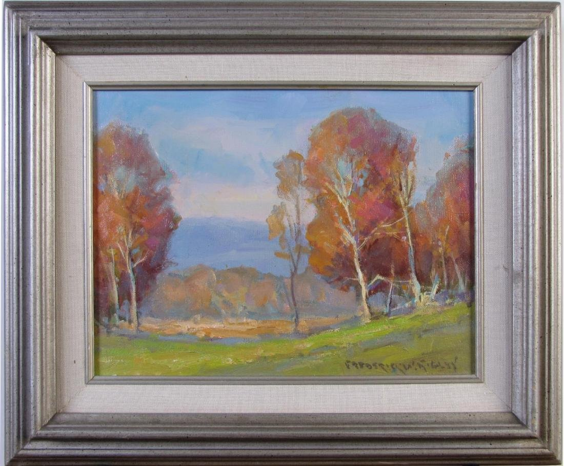 "Fred W Rigley 9x12 O/C ""Brown County Fall"" - 2"