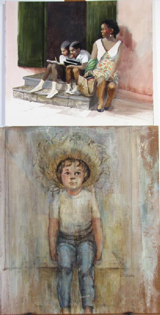 Cynthia Eckstrom (2) Unframed Paintings