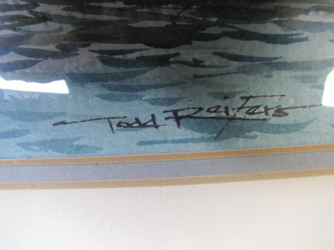 Todd Reifers 10.5x14 WC Harbor Scene - 3