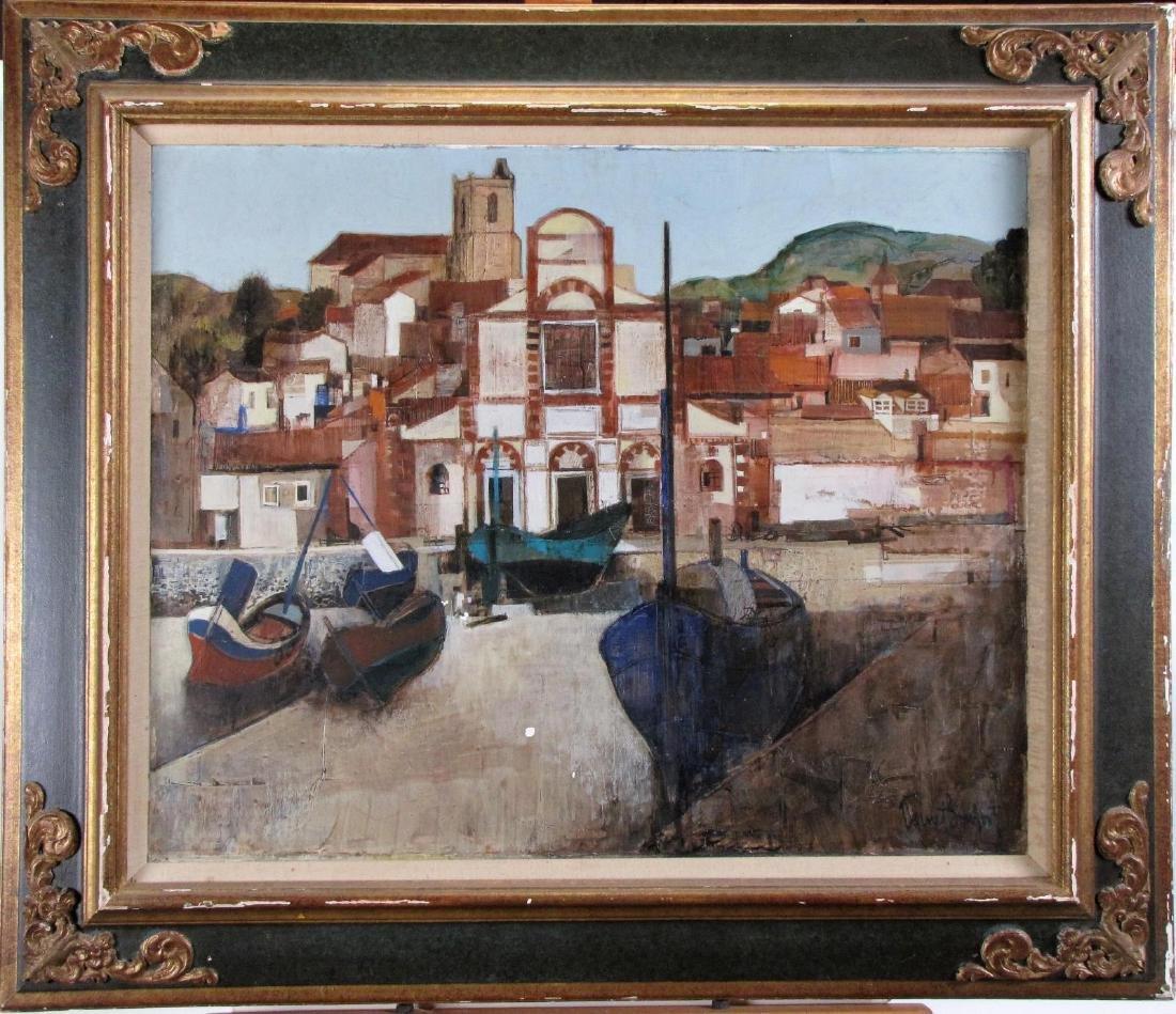 """Robert Vernet-Bonfort 26x32 O/C """"Port de Laredo"""""""