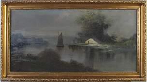 Hudson River 12x24 OC Noctural River Scene
