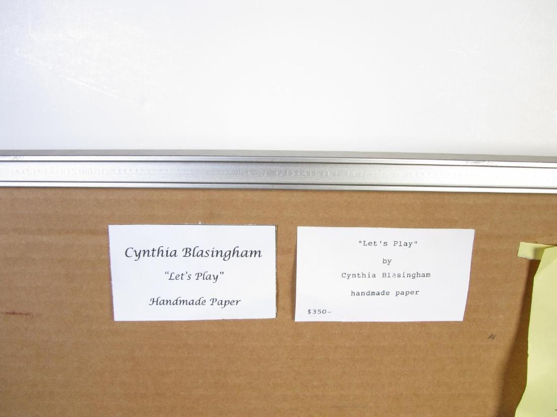 "Cynthia Blasingham 19x24 MixMed ""Let's Play"" - 5"