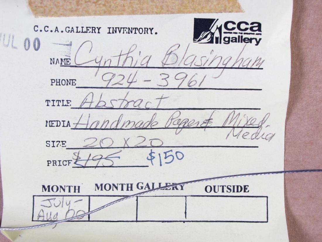 "Cynthia Blasingham 12x12 MixMed ""Abstract"" - 5"