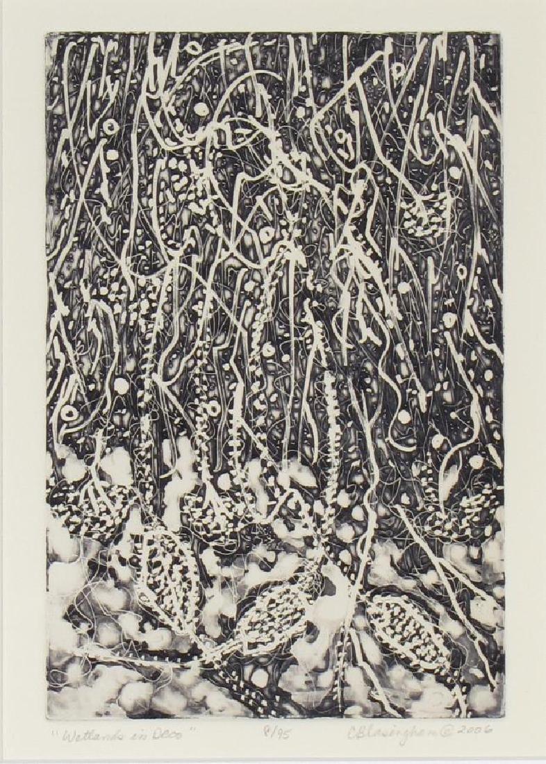 Two Framed Intaglio Prints by Cynthia Blasingham - 2