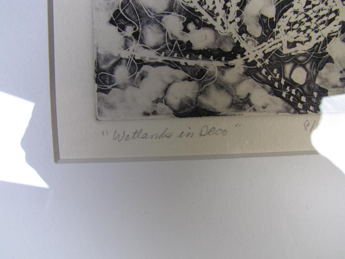 Two Framed Intaglio Prints by Cynthia Blasingham - 5
