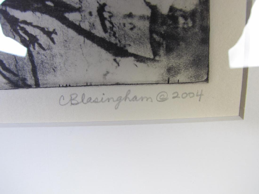 Two Framed Intaglio Prints by Cynthia Blasingham - 8