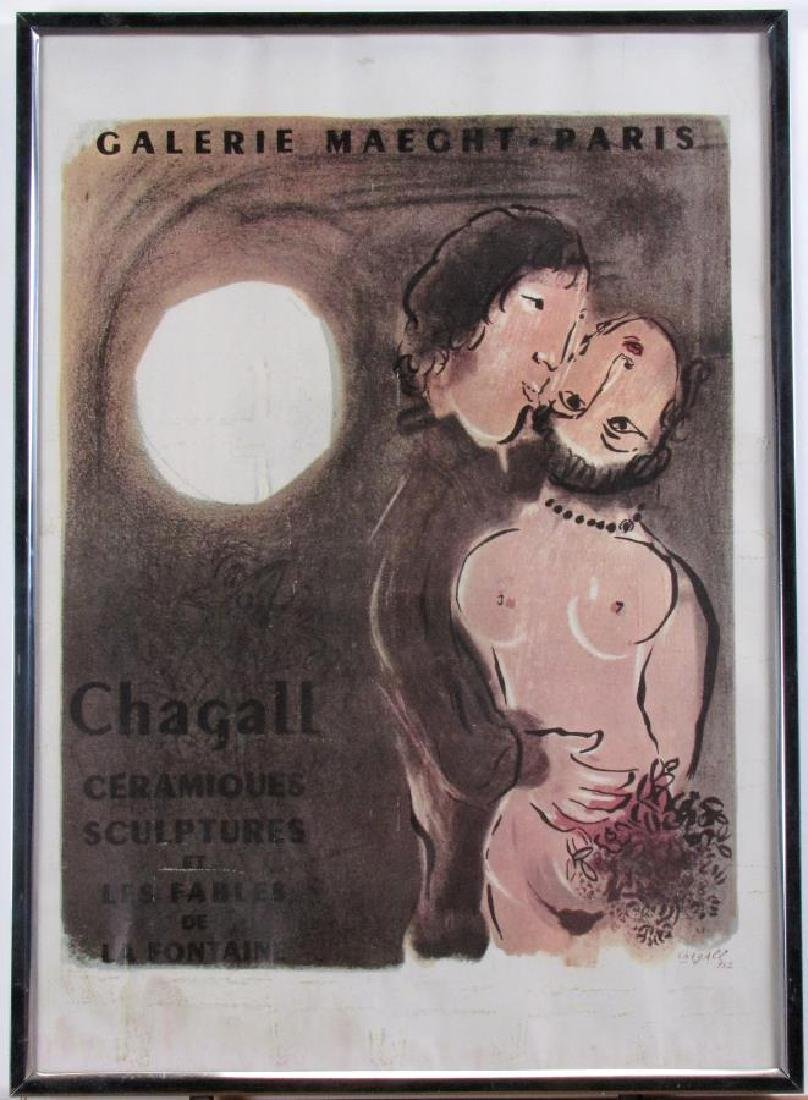 Reproduction Chagall Exhibition Poster