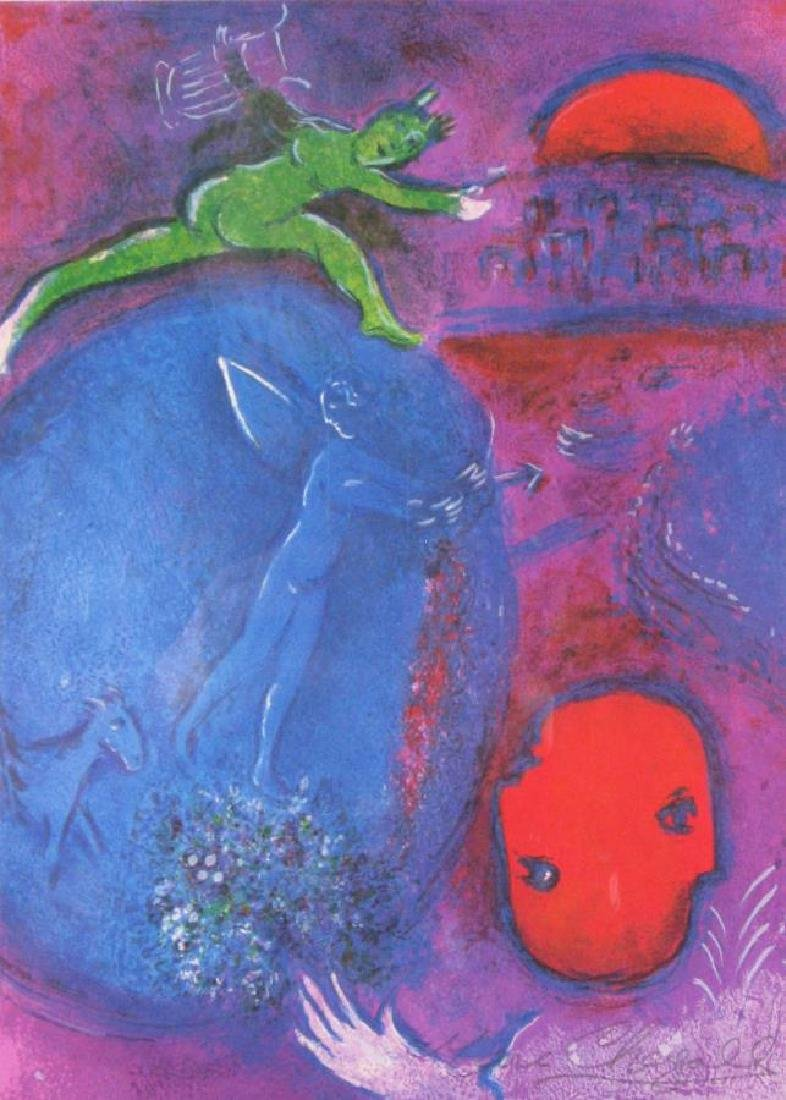 After Chagall Lithograph, Lamon's and Dryas' Dream