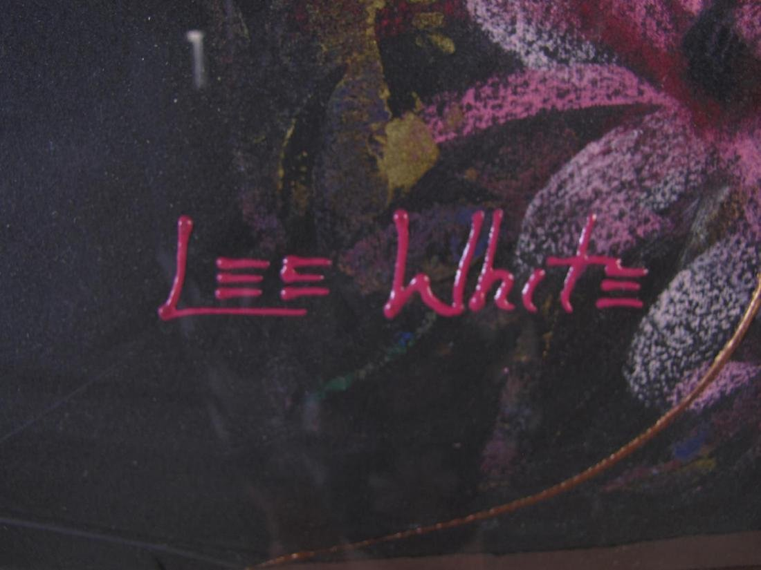 Lee White 30x42 MixMed Figure with Flowers - 3