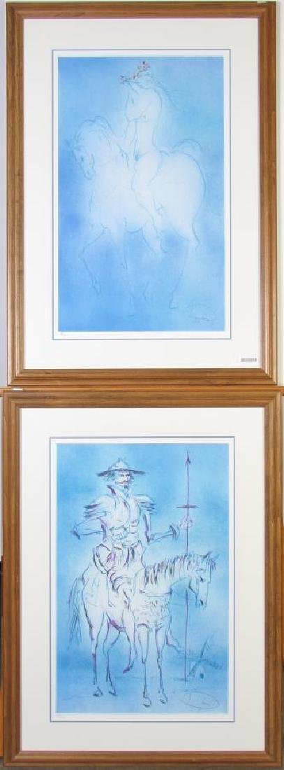 Pair of Signed Lithographs, Laszlo Dus