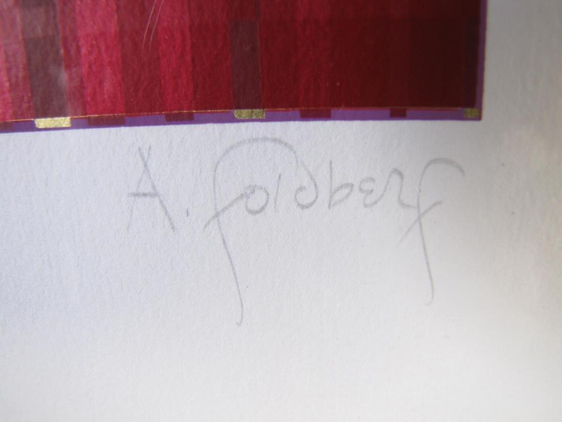 Framed Op-Art Silkscreen, A Goldberg - 10