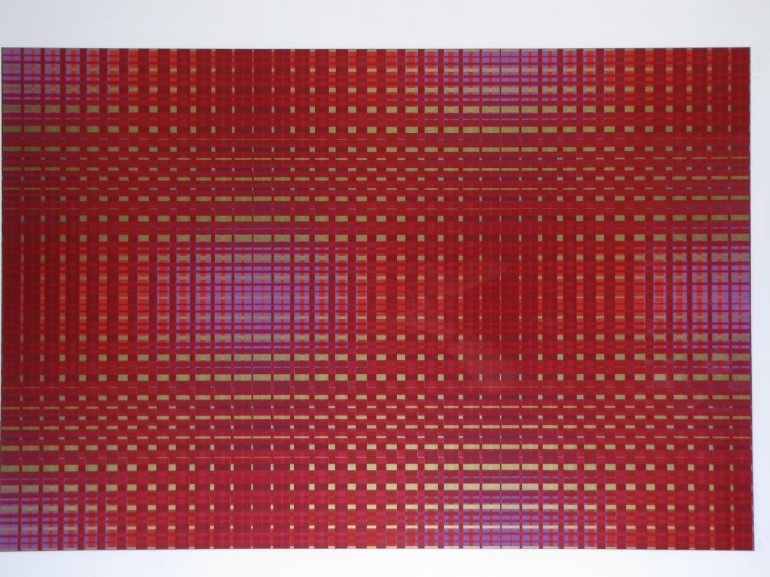 Framed Op-Art Silkscreen, A Goldberg - 2