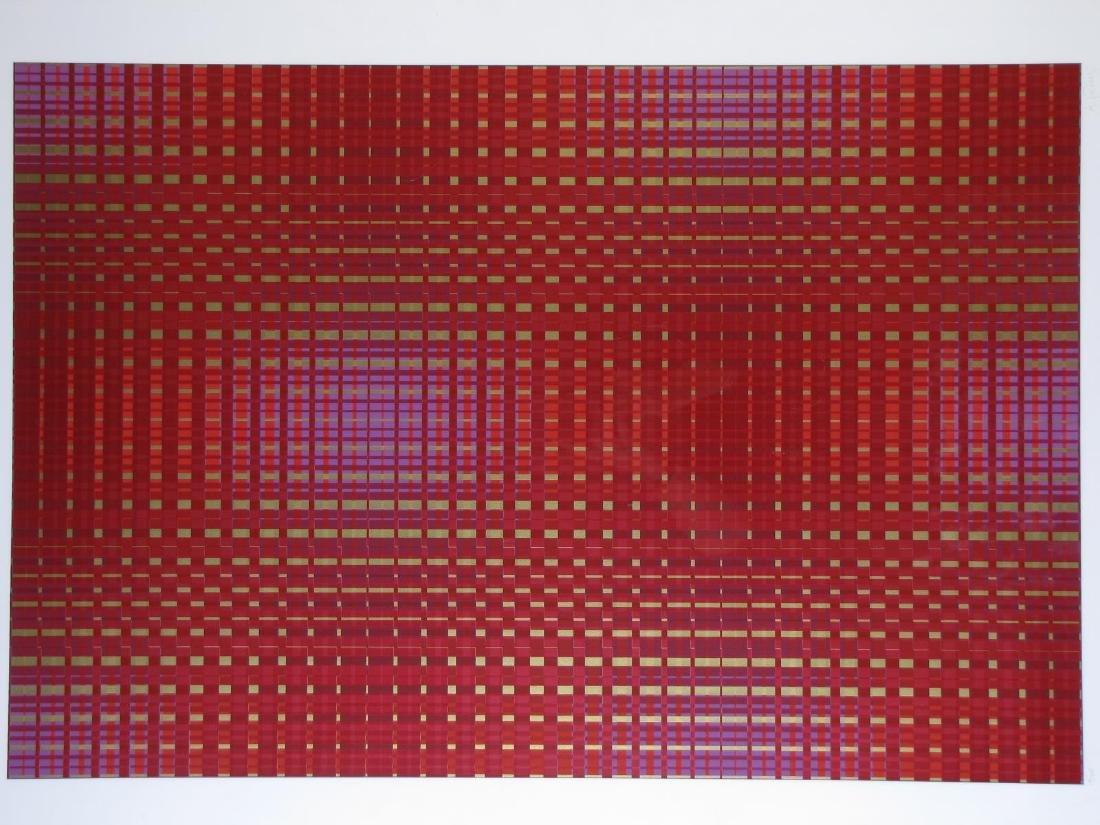 Framed Op-Art Silkscreen, A Goldberg - 3