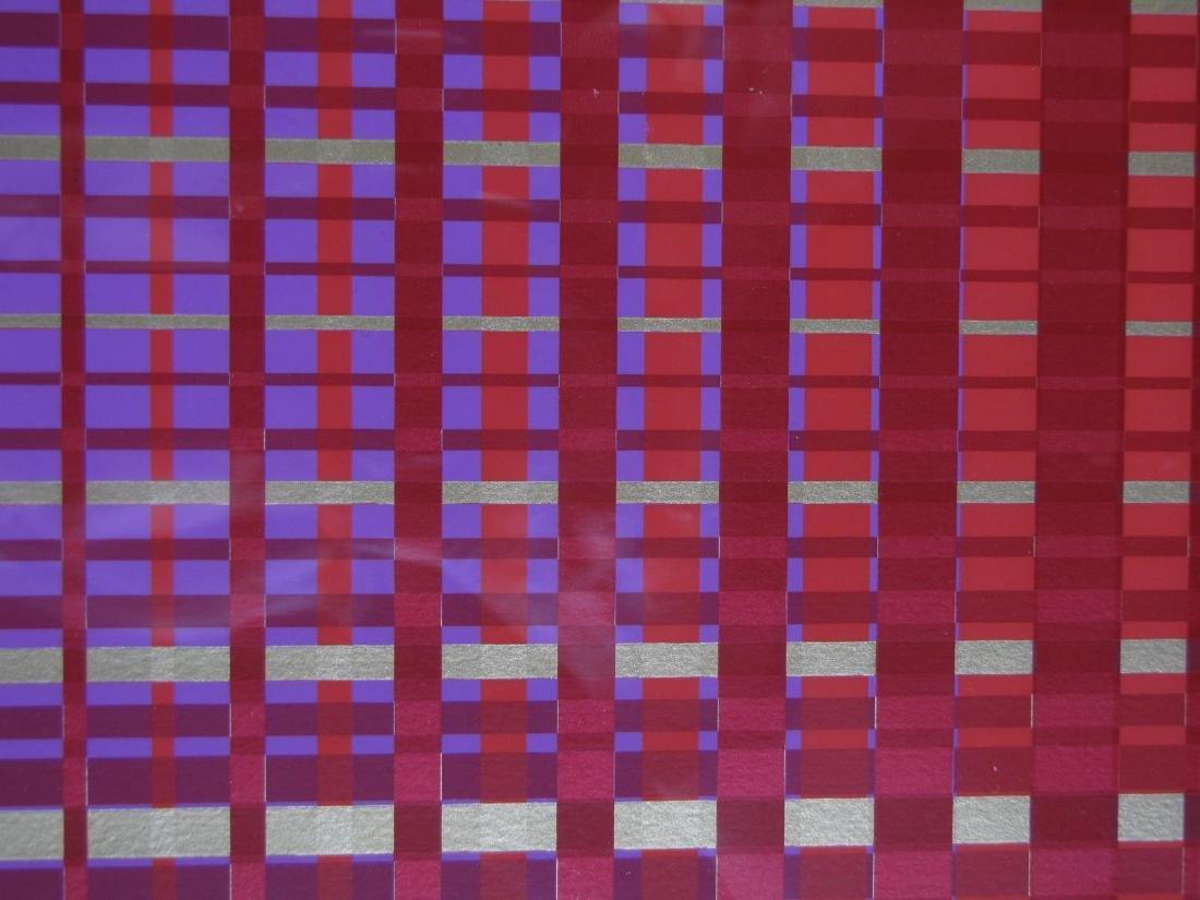Framed Op-Art Silkscreen, A Goldberg - 4