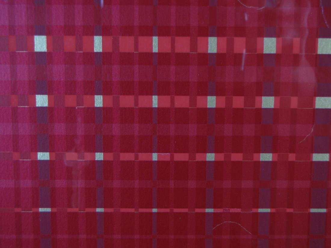 Framed Op-Art Silkscreen, A Goldberg - 5